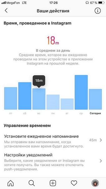 novaya funkciya v instagram posmotri skolko vremeni provodish v inste